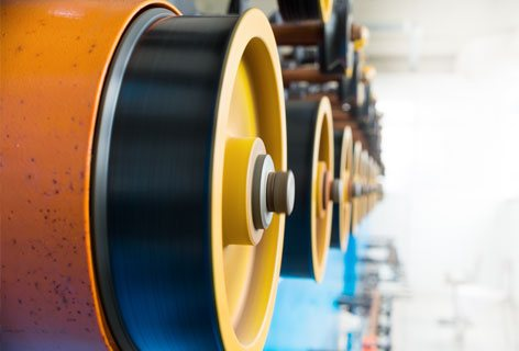 Rubber for marine industries